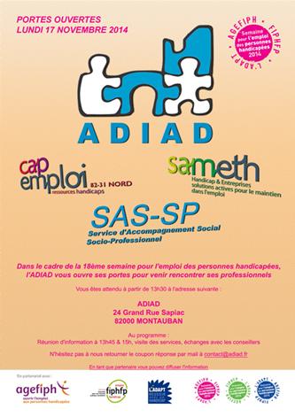 ADIAD Portes ouvertes novembre 2014