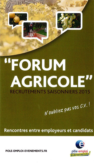 Semaine de l'Emploi Agricole 2015
