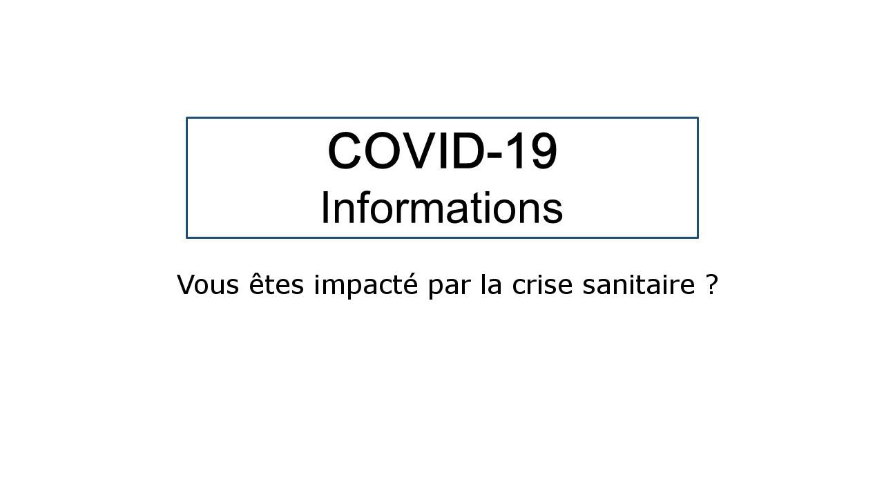 covid-19   vous  u00eates impact u00e9 par la crise sanitaire