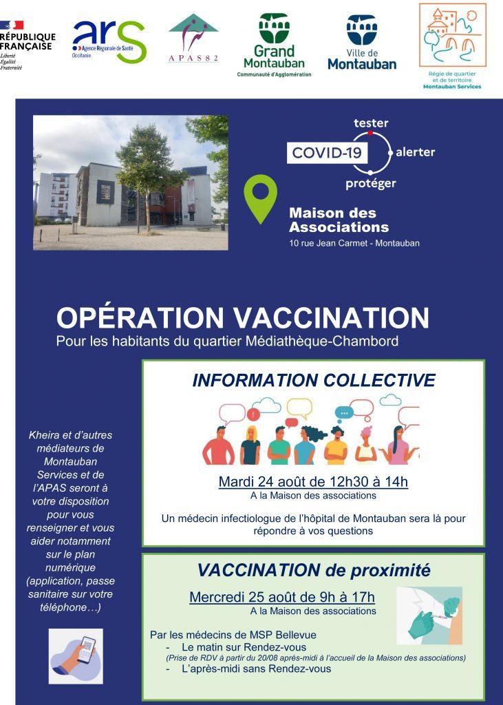 Opération Vaccination à la Maison des Associations de Montauban